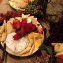 An Elegant Display of Fresh Fruit and Cheese